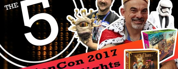 Gamers Remorse Episode 149: GenCon 2017 Highlights [The Five]